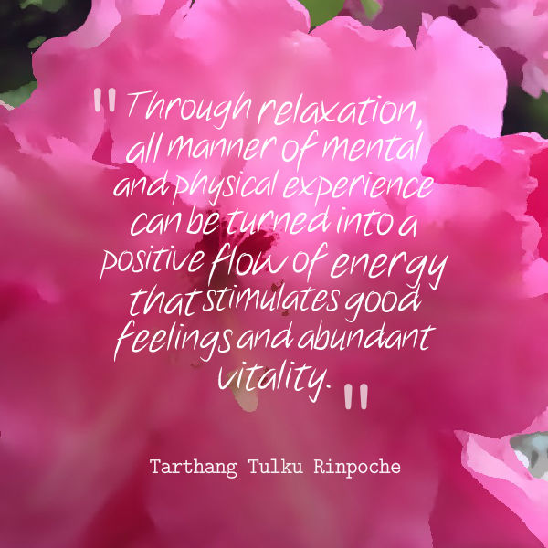 positive flow of energy