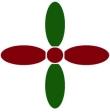 Bowling Pins Burgundy-Green