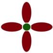 Logo Bowling pins Burgundy